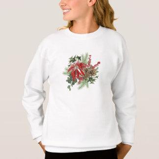 Agasalho poinsétia moderna do feriado do vintage floral