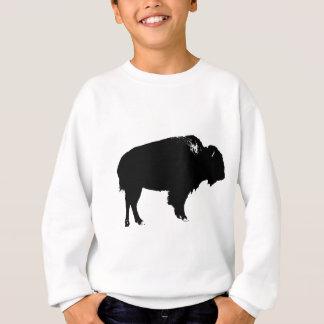Agasalho Pop art preto & branco da silhueta do búfalo do