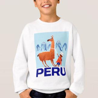 Agasalho Poster de viagens de Peru da criança e do lama do