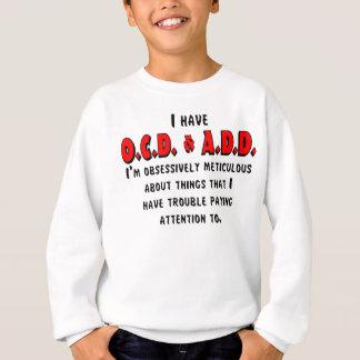 Agasalho Preto/vermelho de OCD-ADD