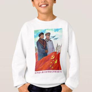 Agasalho Propaganda original Mao Zedong e Josef Stalin