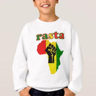 Agasalho Punho do poder preto de Rasta sobre África