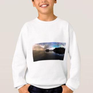 Agasalho Reflexão do por do sol da praia do rubi