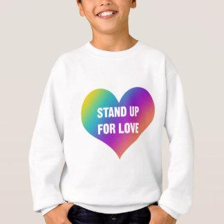 Agasalho Represente acima o amor (o coração do arco-íris)