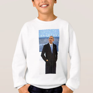 Agasalho Retrato abstrato do presidente Barack Obama 10