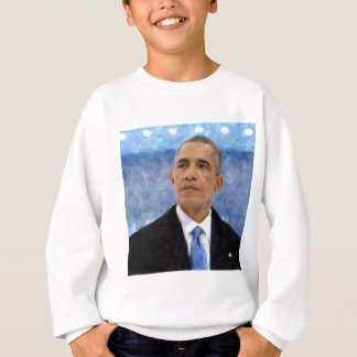 Agasalho Retrato abstrato do presidente Barack Obama 30x30