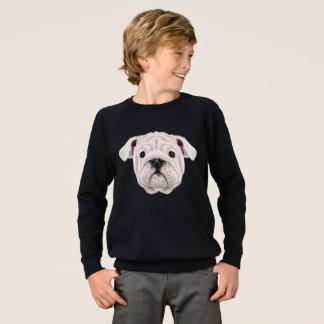 Agasalho Retrato ilustrado do filhote de cachorro inglês do