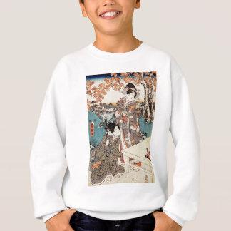 Agasalho Rolo velho da gueixa japonesa do ukiyo-e do