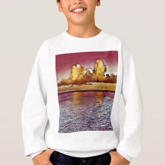 Agasalho Seascape artístico bonito do ouro do rosa da