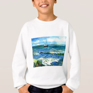Agasalho Seascape em Saintes-Maries, Vincent van Gogh