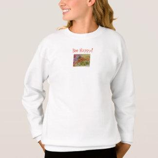 Agasalho Seja a camisola floral da menina feliz da arte