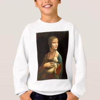 Agasalho Senhora da pintura de Da Vinci original com um
