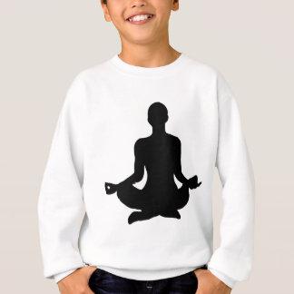 Agasalho Silhueta da pose da ioga