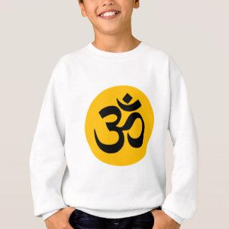 Agasalho Símbolo do OM, círculo preto com ouro