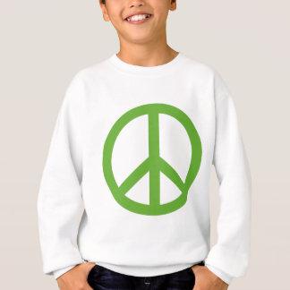 Agasalho Símbolo verde do sinal de paz