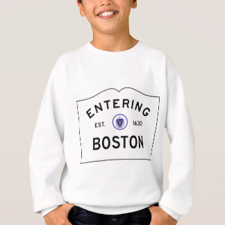 Agasalho Sinal de estrada de Boston Massachusetts