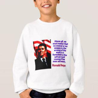 Agasalho Sobretudo nós devemos realizar - Ronald Reagan