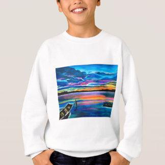 Agasalho Sozinho esquerdo uma pintura do barco do seascape