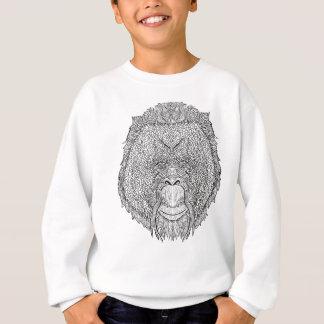 Agasalho T do macaco do orangotango - coloração do estilo