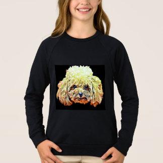 Agasalho T-shirt do cão de caniche