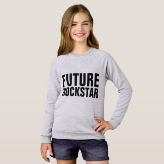 Agasalho T-shirt engraçados das meninas dos miúdos, FUTURO