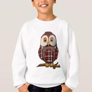 Agasalho T-shirt escoceses da coruja do Tartan