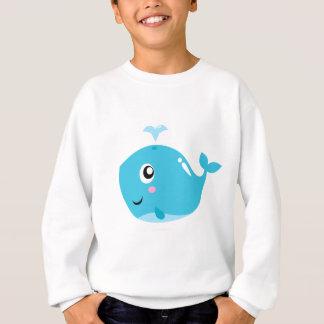 Agasalho T-shirt maravilhosos com azul da baleia