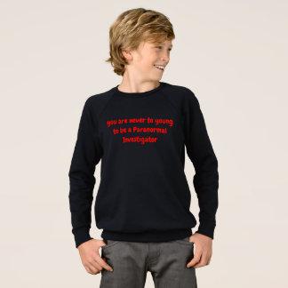 Agasalho T-shirt Paranormal dos meninos