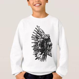 Agasalho T-shirt tribal do gráfico do crânio, das armas e