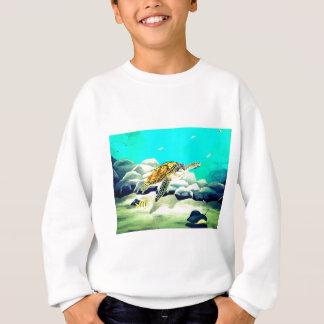 Agasalho Tartaruga de mar que pinta o mar azul bonito