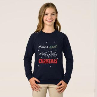 Agasalho Tenha um Natal alegre do azevinho