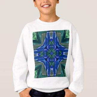 Agasalho Teste padrão bonito da forma da cruz dos azuis