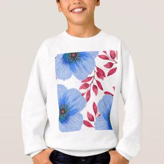 Agasalho Teste padrão de flores bonito da papoila azul