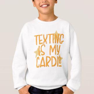 Agasalho Texting é meu cardio-