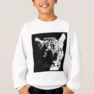 Agasalho Tigre preto & branco do pop art