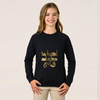Agasalho Tipografia preta elegante do ouro do feliz ano
