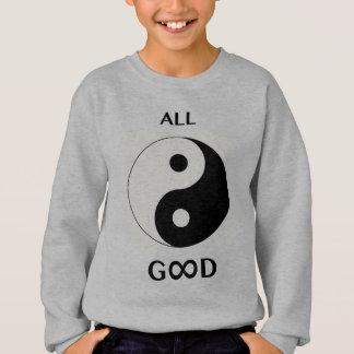 Agasalho Todo o bom/deus (parte dianteira), emoji-arte do