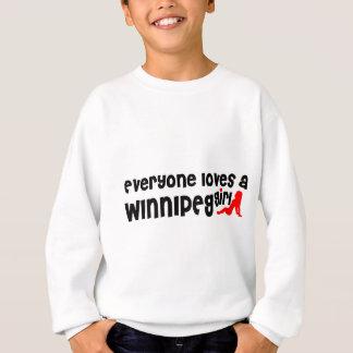Agasalho Todos ama uma menina de Winnipeg