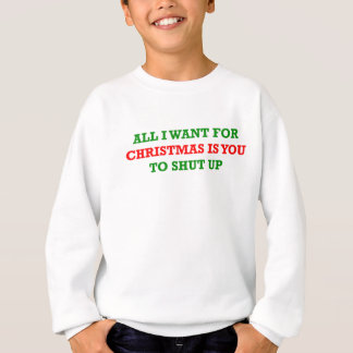 Agasalho Tudo que eu quero para o Natal é você a fechar