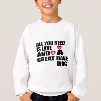 Agasalho Tudo você precisa o design dos cães de GREAT DANE
