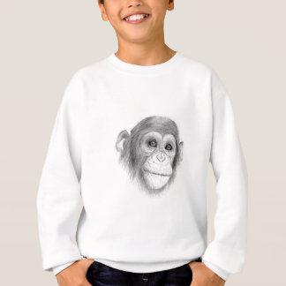 Agasalho Um chimpanzé, não monkeying ao redor o esboço