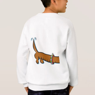 Agasalho Um Dachshund bonito que veste os Antlers da rena