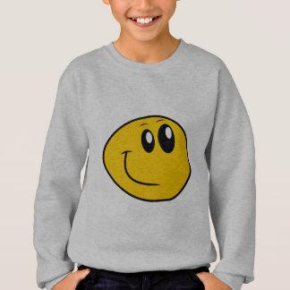 Agasalho Um smiley feliz amarelo entortado