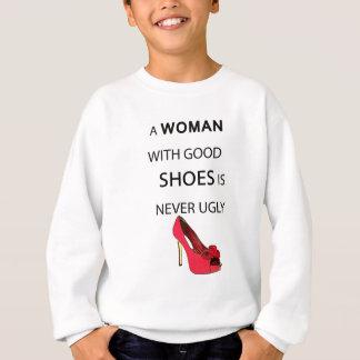 Agasalho uma mulher com bons calçados