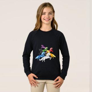 Agasalho Unicórnios selvagens coloridos da ilustração