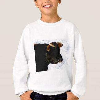 Agasalho Vaca preta com chifres