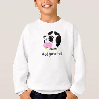 Agasalho Vaca preto e branco dos desenhos animados bonitos