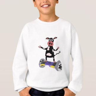 Agasalho Vaca preto e branco engraçada em Hoverboard