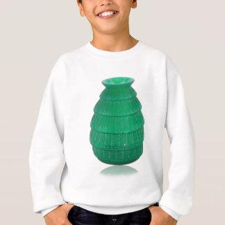 Agasalho Vaso verde do vidro da arte