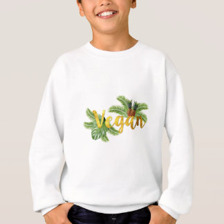 Agasalho Vegan do ouro com abacaxis